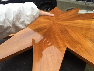 Super Yacht Expanding Table Varnishing #1