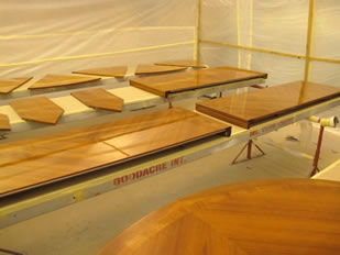 Super Yacht Expanding Table Varnishing #19