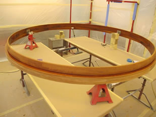 Super Yacht Expanding Table Varnishing #29