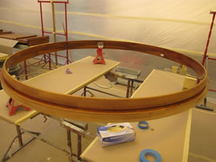 Super Yacht Expanding Table Varnishing #32