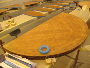 Super Yacht Expanding Table Varnishing #34