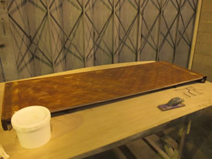 Super Yacht Expanding Table Varnishing #35