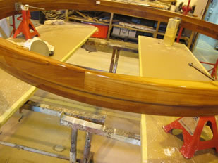 Super Yacht Expanding Table Varnishing #36