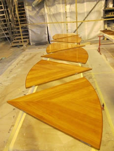 Super Yacht Expanding Table Varnishing #37