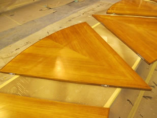 Super Yacht Expanding Table Varnishing #38