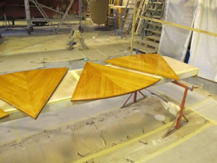 Super Yacht Expanding Table Varnishing #39