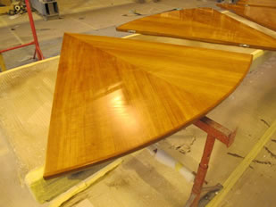 Super Yacht Expanding Table Varnishing #40